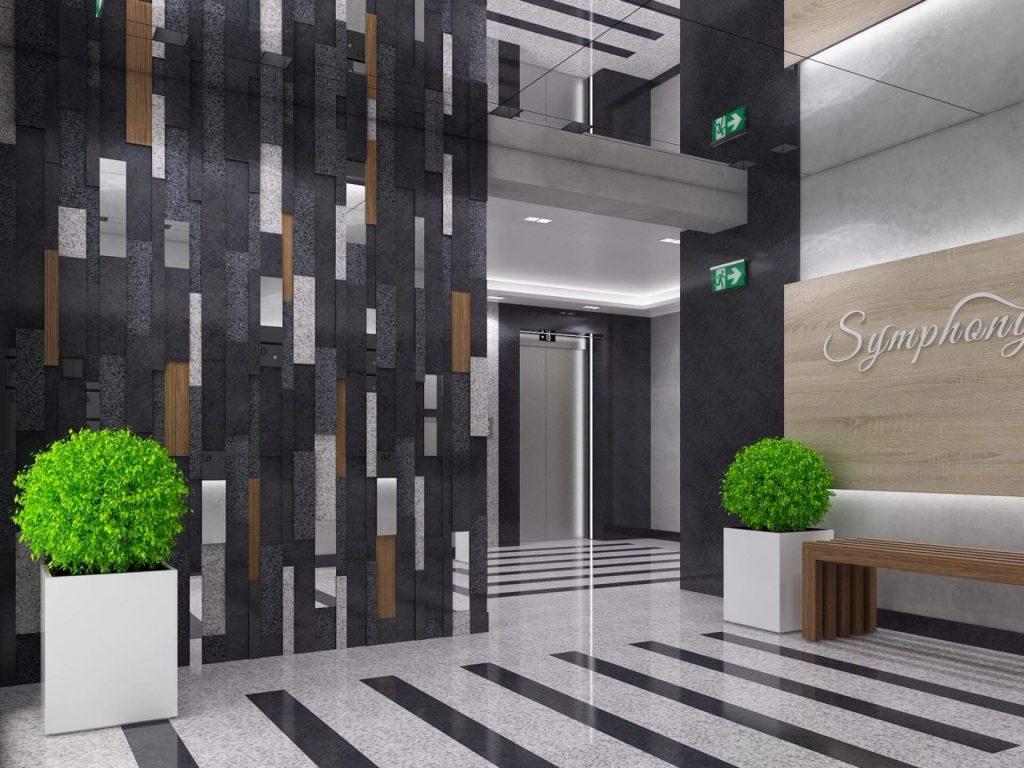 Интериор на жилищен комплекс Симфония - Варна