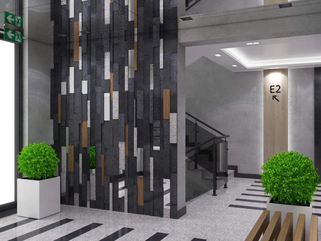 Интериор на жилищен комплекс Симфония - морерна фасада